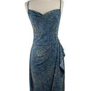 BCBG MaxAzria Floral Scroll Mix Print Dress